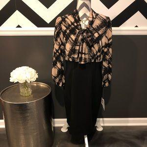 NEW-Anne Klein Colorblocked Work Dress- Size 10